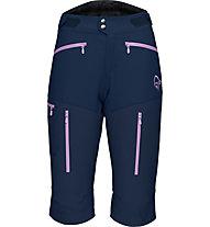 Norrona Fjora Flex 1 - pantaloni corti trekking - donna, Blue/Pink
