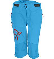 Norrona Fjora flex1 - pantaloni corti MTB - donna, Light Blue