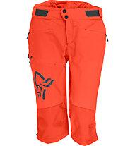Norrona Fjora flex1 - pantaloni corti MTB - donna, Orange