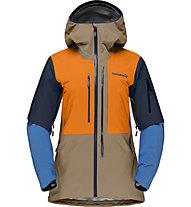 Norrona Lofoten Gore Tex Pro - giacca freeride - donna, Orange/Brown