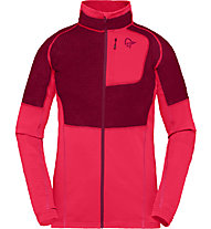Norrona Lyngen Alpha 90 Raw - giacca in pile - donna, Pink/Dark Red