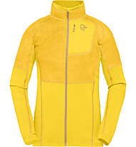 Norrona Lyngen Alpha 90 Raw - giacca in pile - donna, Yellow