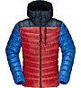 Norrona Lyngen down850 Hood - giacca in piuma - uomo, Red/Blue