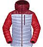 Norrona Lyngen Down850 Hood - Daunenjacke - Damen, Light Grey/Red
