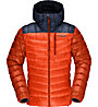 Norrona Lyngen Down850 Hood - giacca in piuma con cappuccio - uomo, Orange/Blue