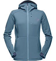Norrona Narvik warm2 stretch Kapuzenjacke Damen, Blue
