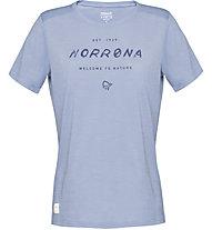 Norrona Svalbard Wool - T-Shirt Bergsport - Damen, Light Blue
