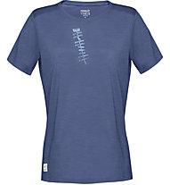 Norrona Svalbard Wool - T-shirt - donna, Blue