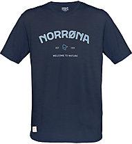 Norrona Svalbard Wool - Herren-T-Shirt, Dark Blue