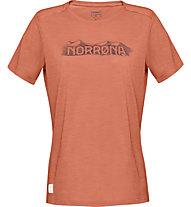 Norrona Svalbard Wool - T-shirt trekking - donna, Orange