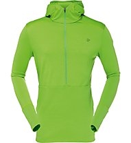 Norrona Wool Hoodie Men Felpa in pile con cappuccio, Green