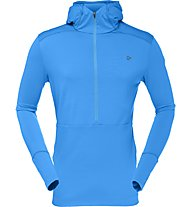 Norrona Wool Hoodie Men Felpa in pile con cappuccio, Light Blue