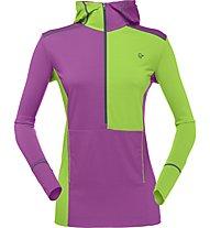 Norrona Wool Hoodie Woman Damen Funktionsunterwäsche Shirt Langarm mit Kapuze, Green