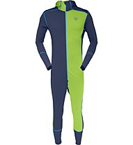 Norrona Wool One-Piece Men Tuta Scialpinismo, Blue