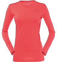 Norrona Wool round Neck Woman Damen Funktionsshirt Langarm, Red