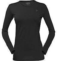 Norrona Wool round Neck Woman Damen Funktionsshirt Langarm, Black
