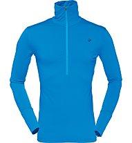 Norrona Wool Zip Neck - Langarmshirt mit Reißverschluss - Herren, Light Blue