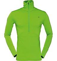 Norrona Wool Zip Neck Men Felpa scialpinismo, Green