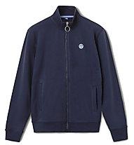 North Sails Full Zip W/Logo - sweatshirt - uomo, Blue