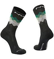 Northwave Core High - calzini lunghi MTB, Black/Green