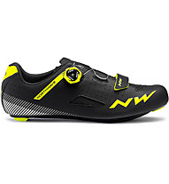 Northwave Core Plus - scarpe bici da corsa - uomo, Black/Yellow