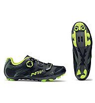 Northwave Scorpius 2 Plus - Mountainbikeschuh XC, Black/Yellow