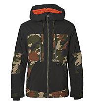O'Neill Hybrid Seb Toots - giacca da snowboard - uomo, Black/Green