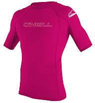 O'Neill Kid Basic Skins S/S Rash Guard - maglia a compressione - bambina , Pink
