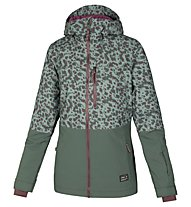O'Neill Single Damen-Snowboardjacke, Green AOP W/Red