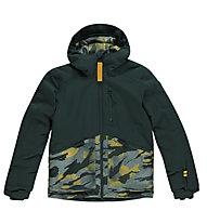 O'Neill Texture - giacca da snowboard - bambino, Green/Yellow