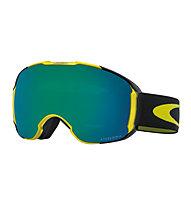 Oakley Airbrake XL - maschera sci, Black/Yellow