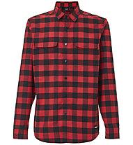Oakley Checkered Ridge Long Sleeve - Hemd MTB - Herren , Red/Black