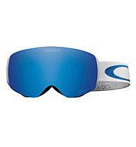 Oakley Flight Deck XM Lindsey Vonn Skibrille, White/Blue