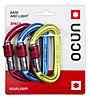 Ocun Hawk Screw 3-Pack - moschettone, Red/Blue/Green