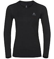 Odlo SUW Natural 100% Merino Warm - maglietta tecnica - donna, Black