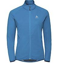 Odlo Aeolus Element Warm - giacca sci di fondo - donna, Blue