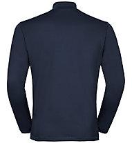 Odlo Alagna Midlayer - felpa in pile - uomo, Dark Blue