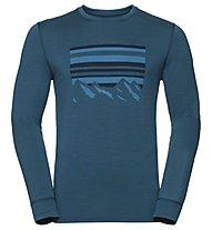 Odlo Alliance Bl - maglia a maniche lunghe trekking - uomo, Light Blue