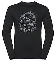Odlo Alliance Bl - maglia a maniche lunghe trekking - uomo, Black
