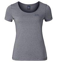 Odlo Alloy Logo - T-Shirt - Damen, Silver Pine Melange
