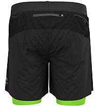 Odlo Axalp Trail 6 Inch 2-In-1 - Trailrunninghose - Herren, Black/Light Green