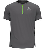 Odlo Axalp Trail 1/2 Zip - Trailrunningshirt - Herren, Grey