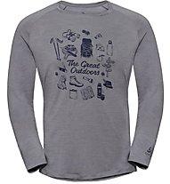 Odlo Concord Bl Crew Neck - Langarmshirt - Herren, Grey