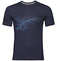 Odlo F-Dry Print Bl Crew New - T-shirt - uomo, Dark Blue