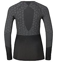 Odlo Maglia intima donna Blackcomb Evo Warm Shirt L/S W, Odlo concrete Grey/Black