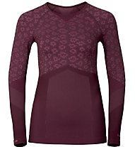 Odlo Maglia intima donna Blackcomb Evo Warm Shirt L/S W, Zinfandel/Sangria