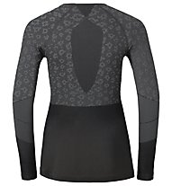 Odlo Blackcomb Evo Warm Shirt L/S W - maglia intima - donna, Black/Grey