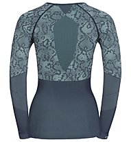Odlo Blackcomb Evo Warm Shirt L/S W - maglia intima - donna, Peacoat/Mint