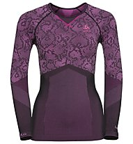 Odlo Blackcomb Evo Warm - Funktionsshirt Langarm - Damen, Black/Pink