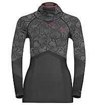 Odlo Blackcomb Evolution Warm - Funktionsshirt Langarm - Damen, Black/Concrete Grey